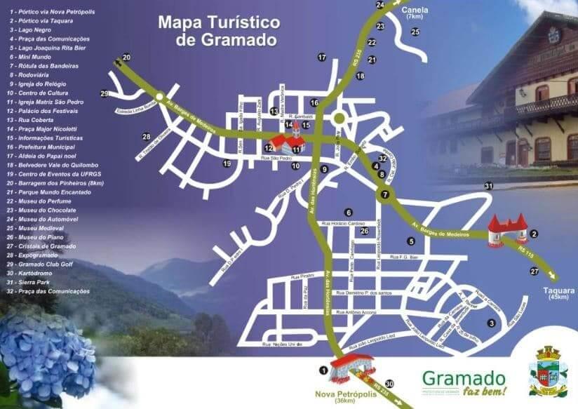 Museu Medieval em Gramado: Mapa turístico