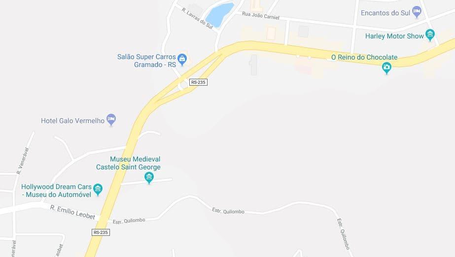 Mapa turístico de Gramado: Norte