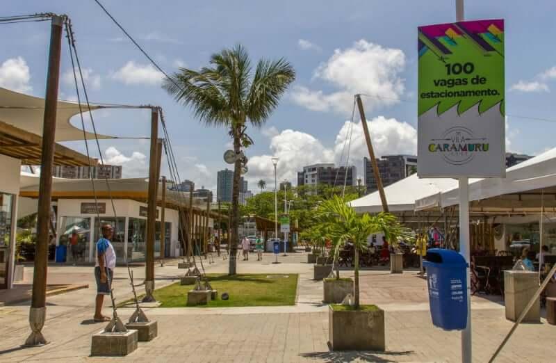 Mercado do Peixe em Salvador: Área aberta