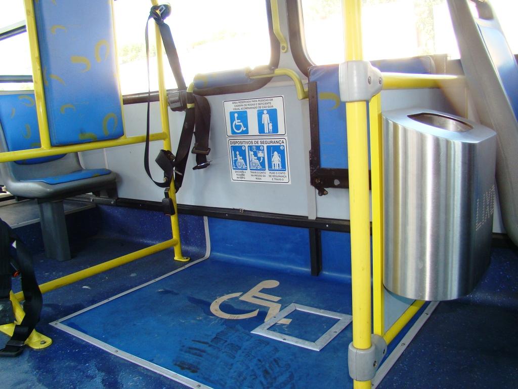 Deficientes físicos em Belo Horizonte: Áreas reservadas no ônibus