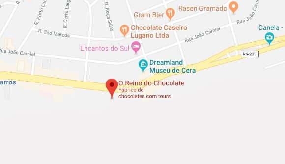 Reino do Chocolate em Gramado: Mapa