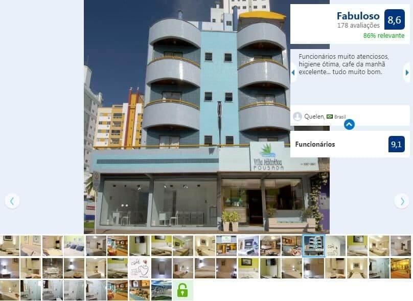 Passeio San Miguel em Balneário Camboriú: Hotel Villa Atlântica