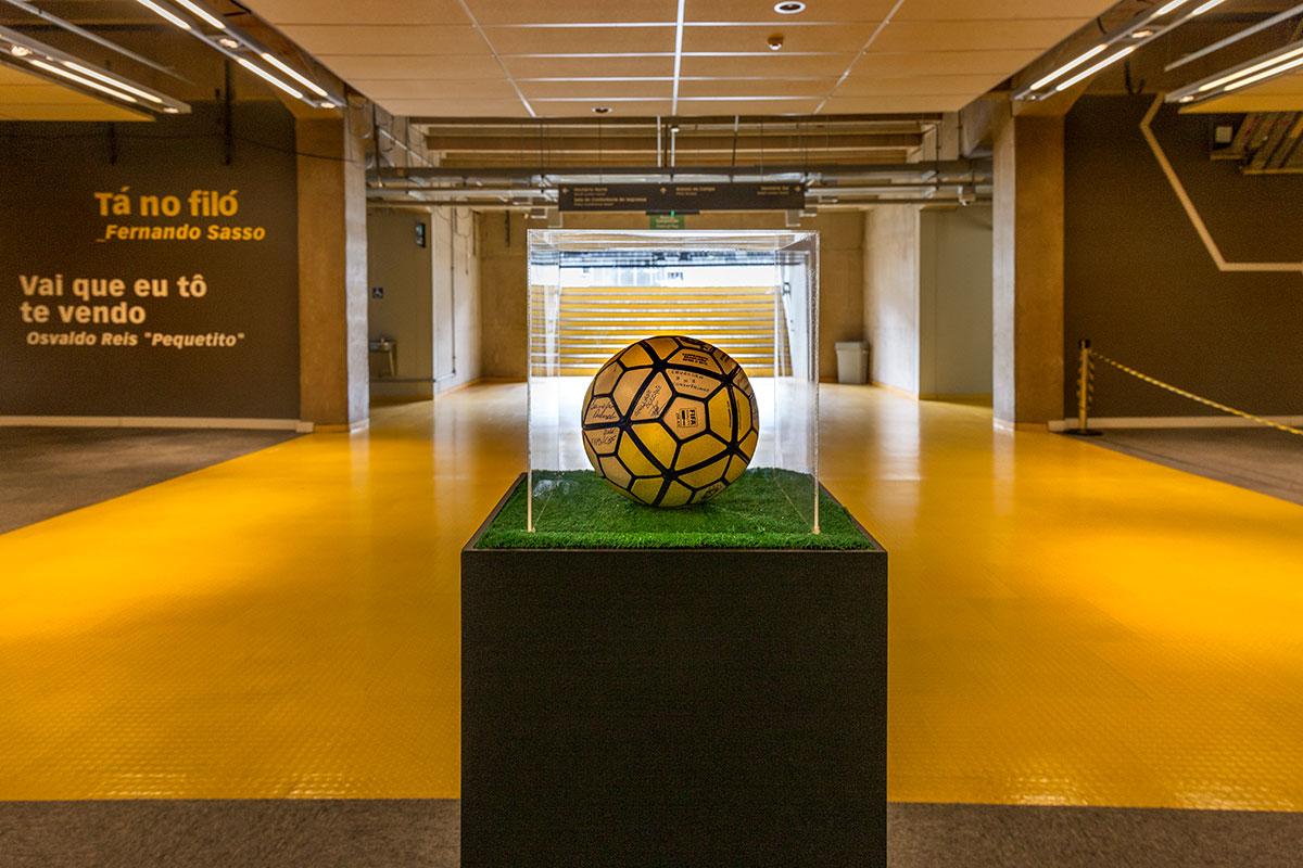 Estádio Governador Magalhães Pinto em Belo Horizonte: Peças expostas do Museu Brasileiro do Futebol