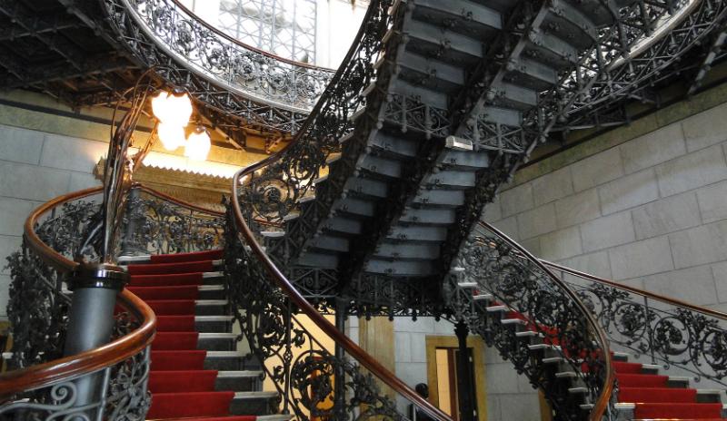 Palácio da Liberdade em Belo Horizonte: Detalhes da escadaria