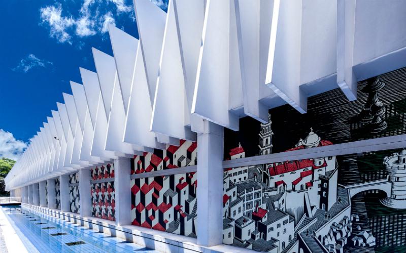 Palácio das Artes em Belo Horizonte: Fachada do Palácio
