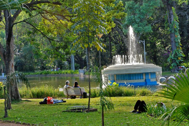 Parque Municipal Américo Renné Giannetti em Belo Horizonte: Áreas de lazer