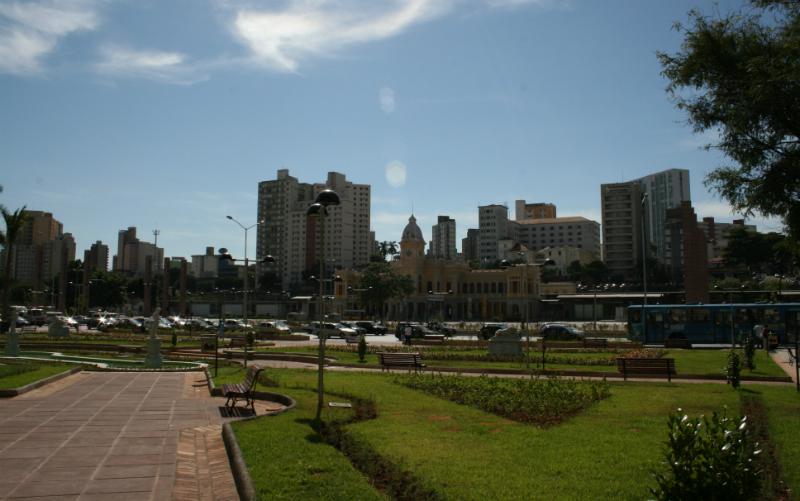 Praça da Estação em Belo Horizonte: Áreas arborizadas
