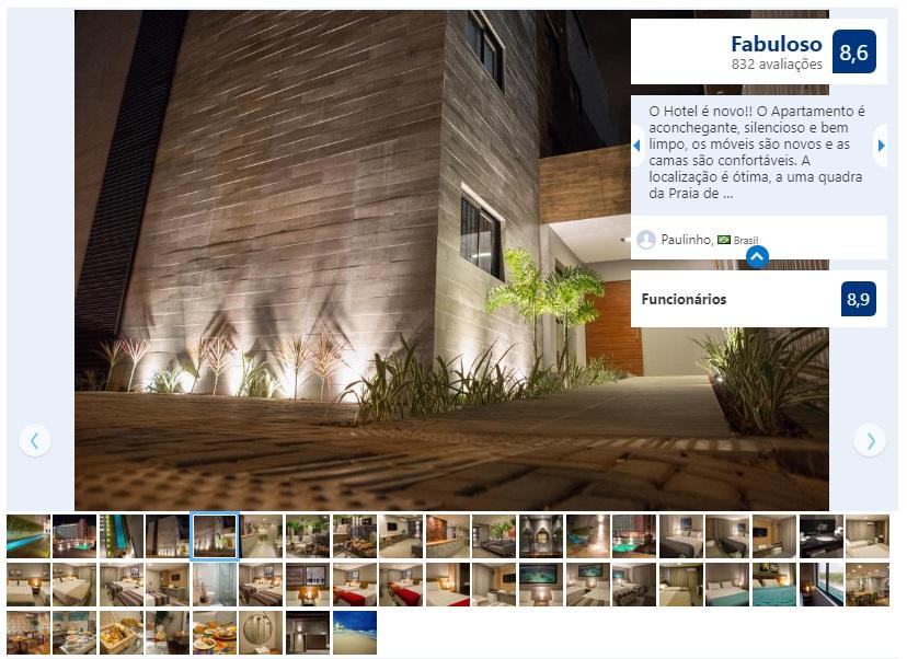 Dicas de hotéis em Maceió: Fachada do Amenit Hotel