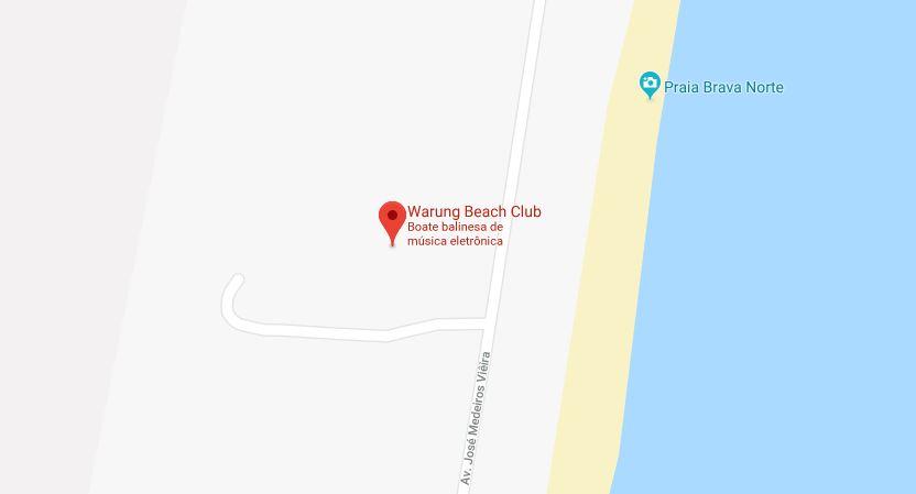 Warung Beach Club em Balneário Camboriú: Mapa