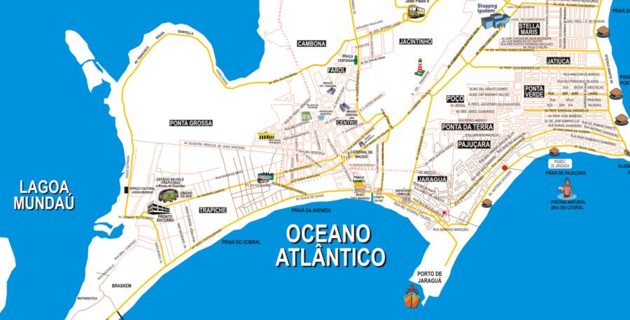Onde ficar em Maceió: Mapa