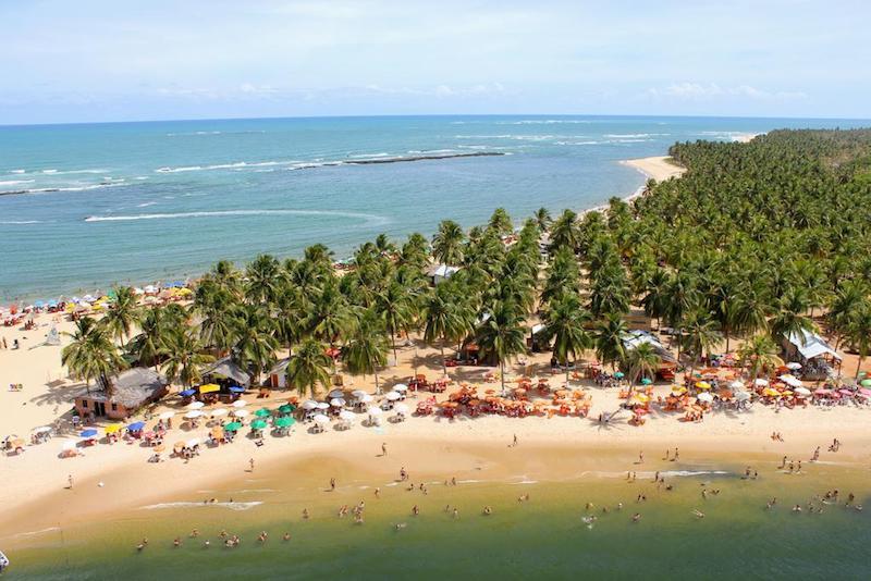 Roteiro de 2 dias em Maceió: Vista aérea da Praia do Gunga