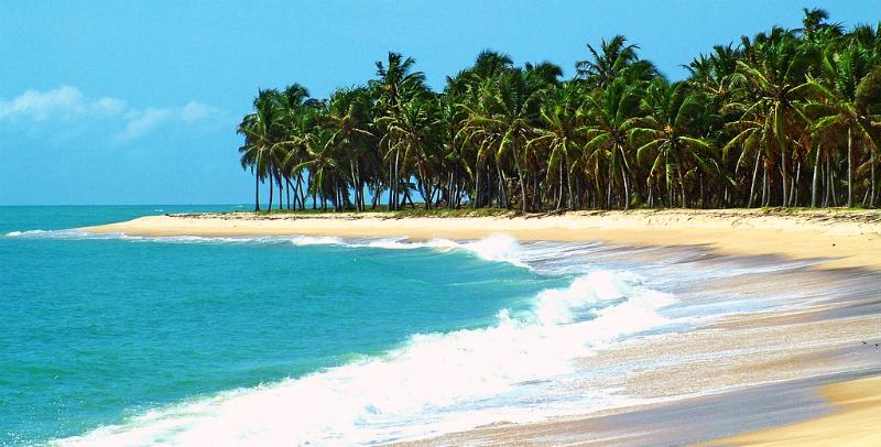 Mapa turístico de Maceió: Praia do Gunga